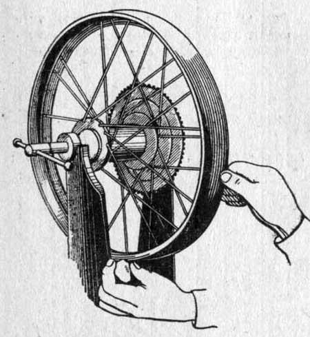 Проверка и исправление биения колеса
