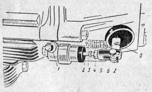 Привод вилки выключения сцепления автомобиля «Москвич-412»